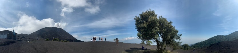 Panorama at the top of the mountain of Pacaya