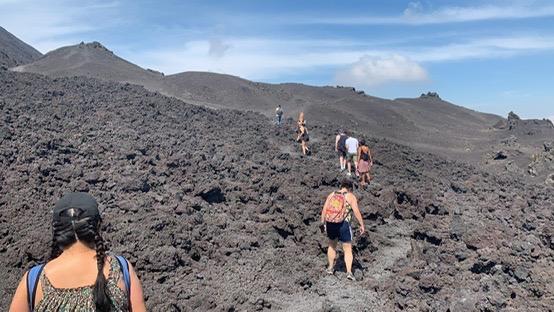 Trail through lava rock