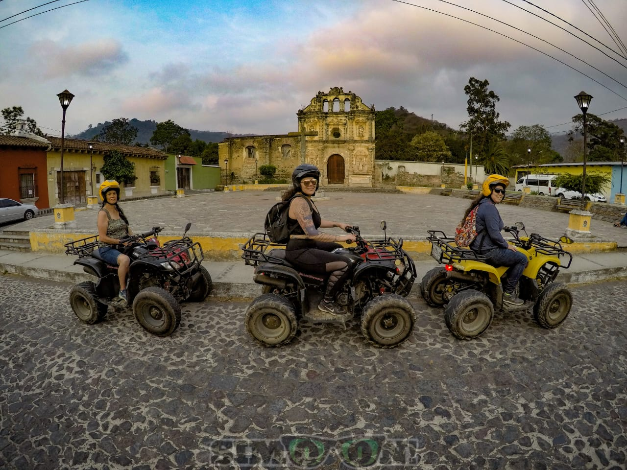 Riding along the streets of Antigua