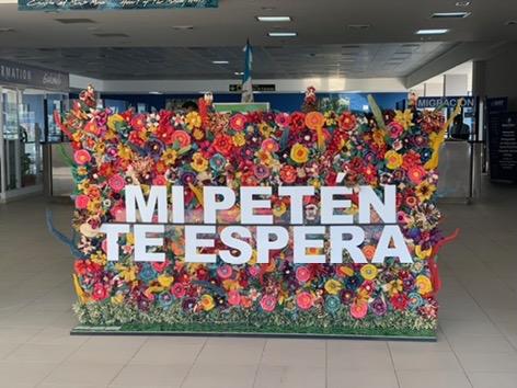 Welcome sign in Peten Airport