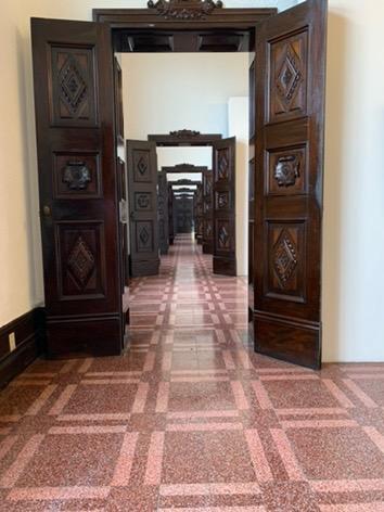 Hallway of doorways