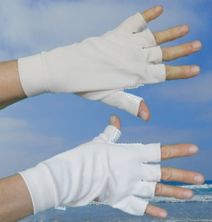 Sun gloves.
