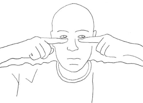 Dr. Reser image showing eye compression