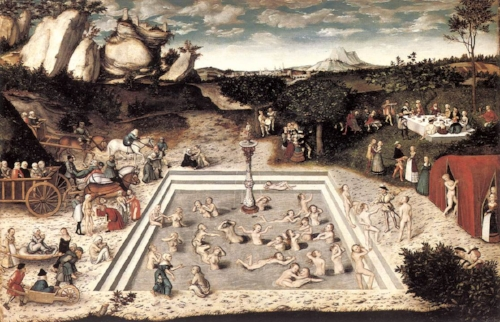 The Fountain of Youth Source:https://commons.wikimedia.org/wiki/File%3ALucas_Cranach_d._%C3%84._-_The_Fountain_of_Youth_-_WGA05707.jpg