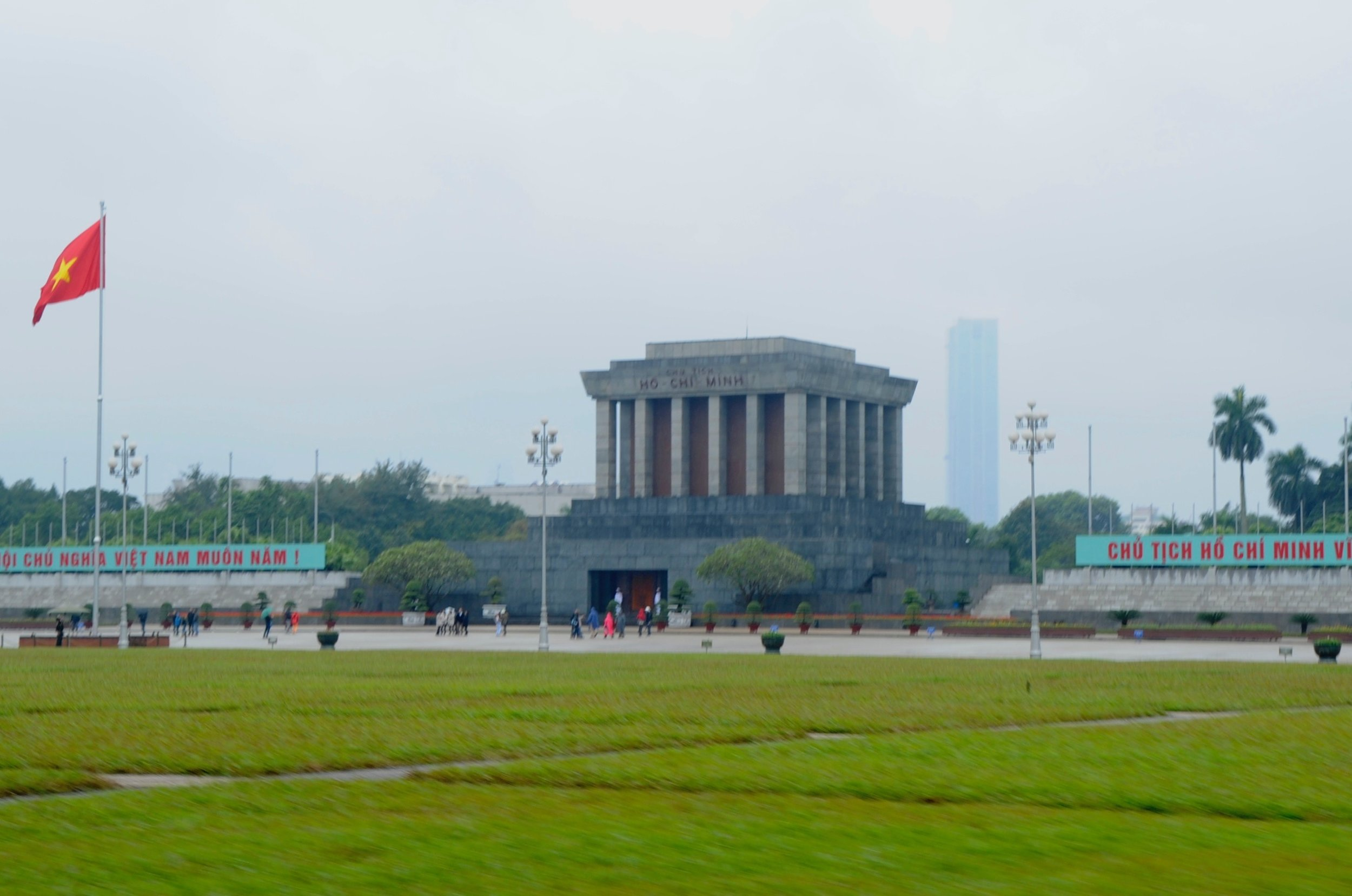 Chairman Ho's tomb in central Hanoi.