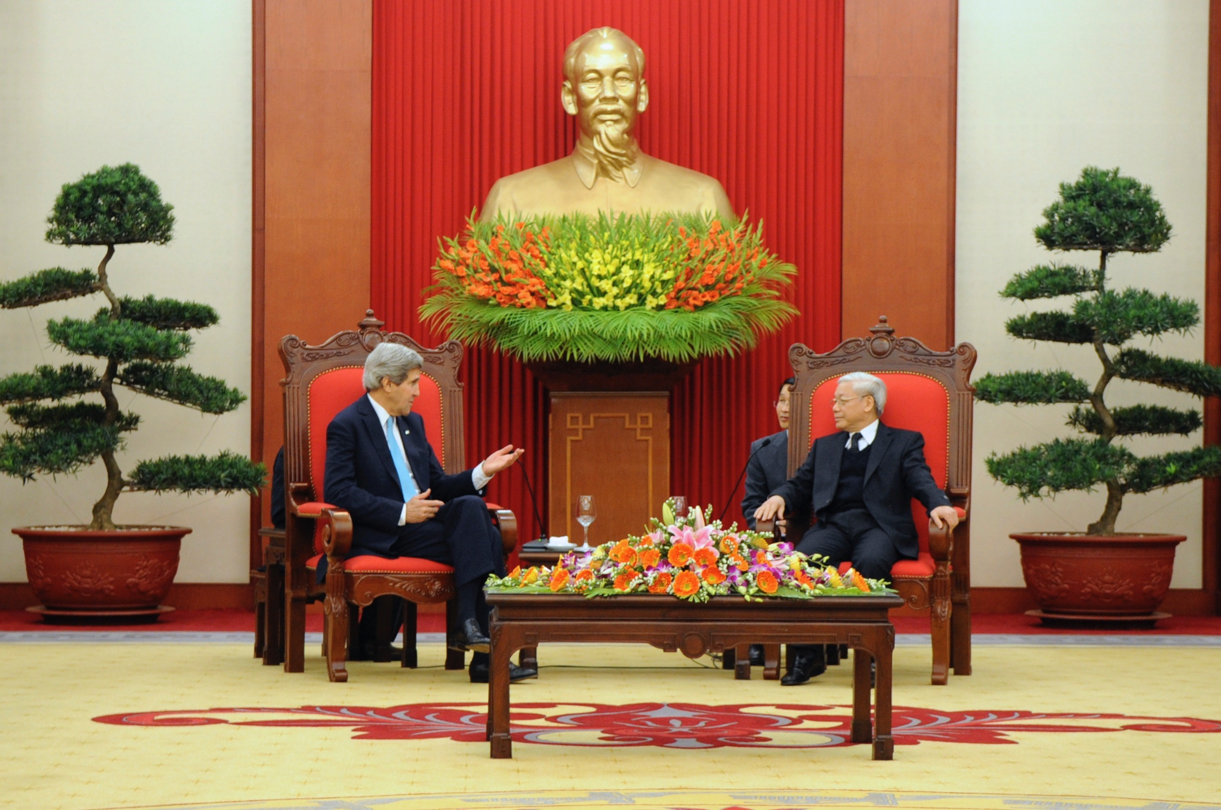 A typical government meeting in the shadow of Ho Chi Minh.