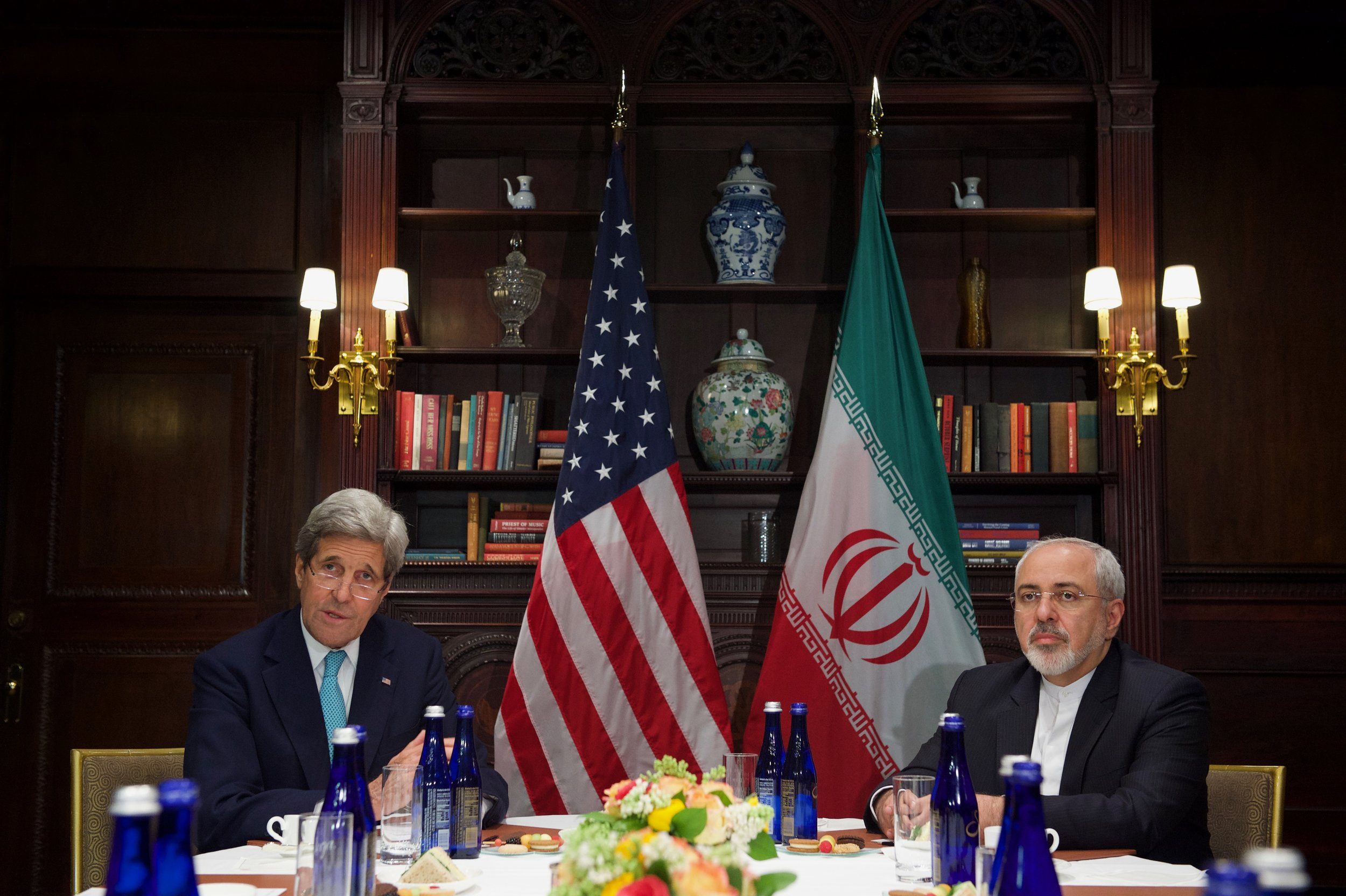 A one-on-one meeting between Secretary Kerry and Iranian Foreign Minister Zarif in New York City.