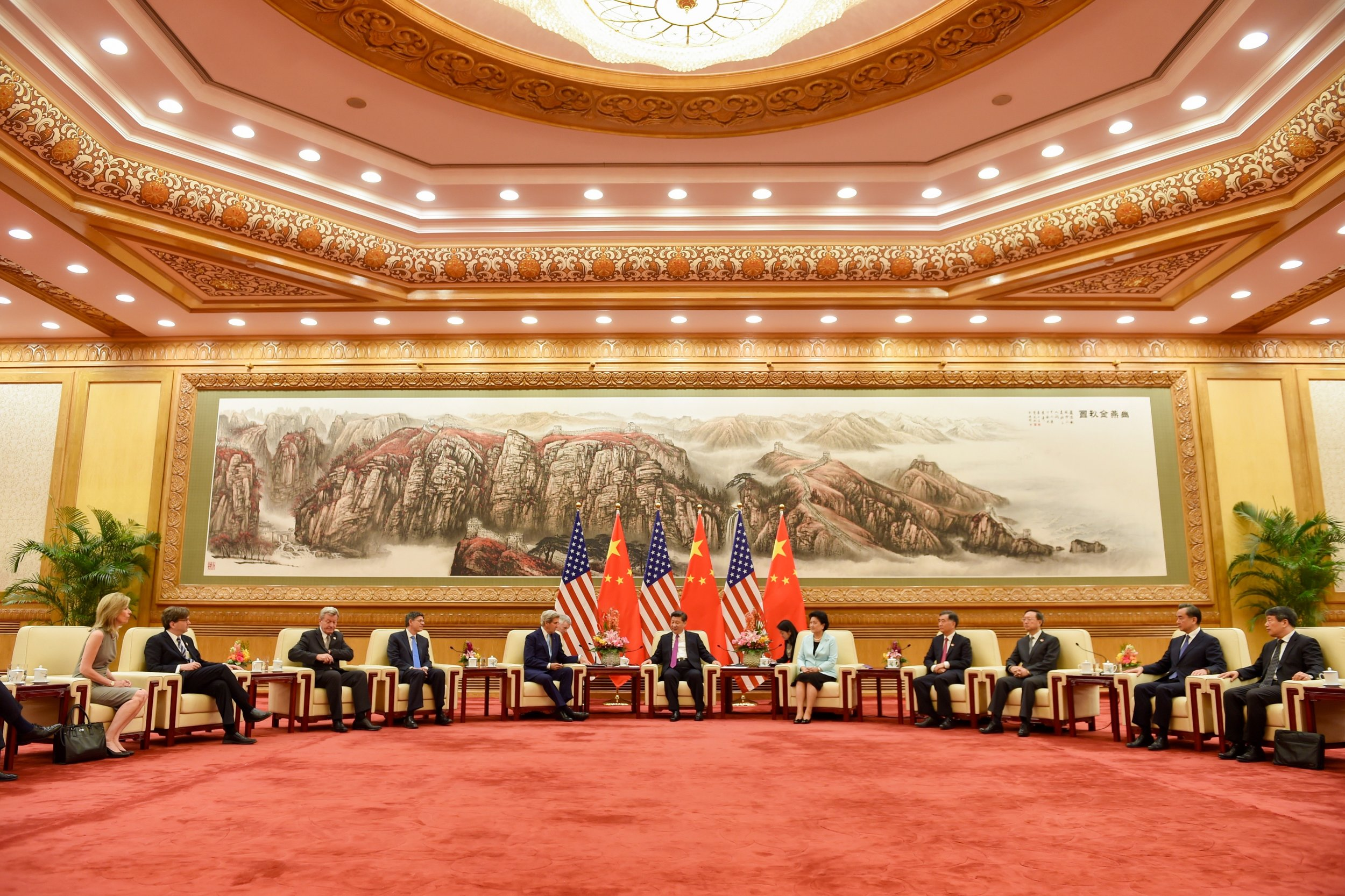 A meeting of the U.S.-Chinese delegations at the GHOP, built in just 10 months.