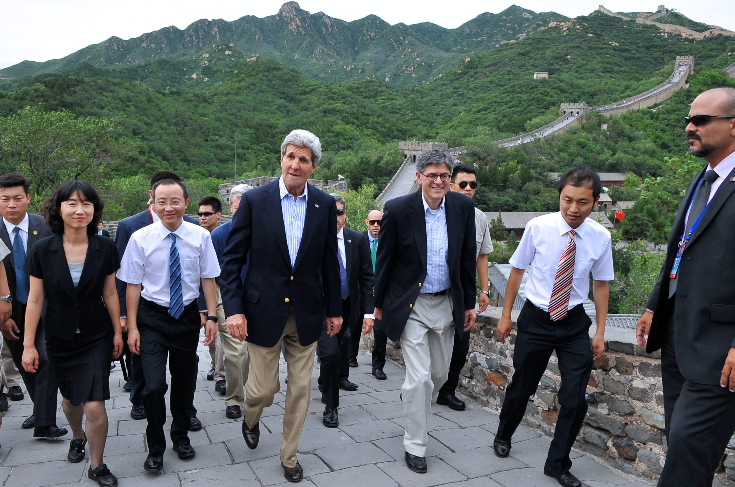A visit to the Great Wall with U.S. Treasury Secretary Jack Lew during a Strategic and Economic Dialogue.