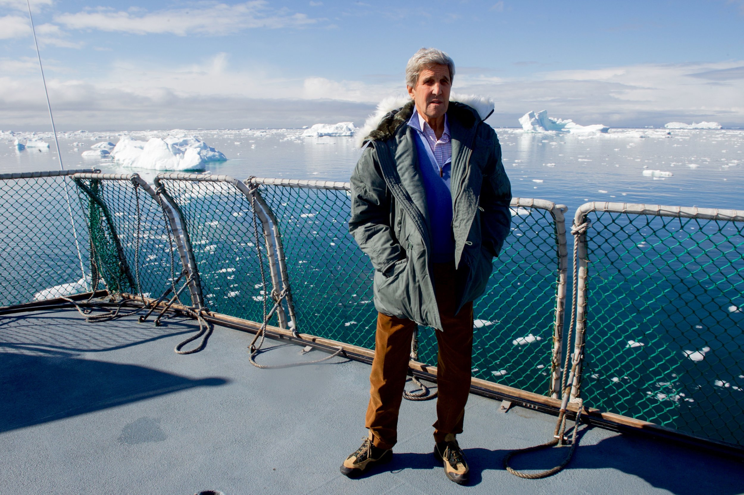 A visit to a glacier field and bay in Greenland at the spot where the iceberg that sunk the Titanic is thought to have originated.