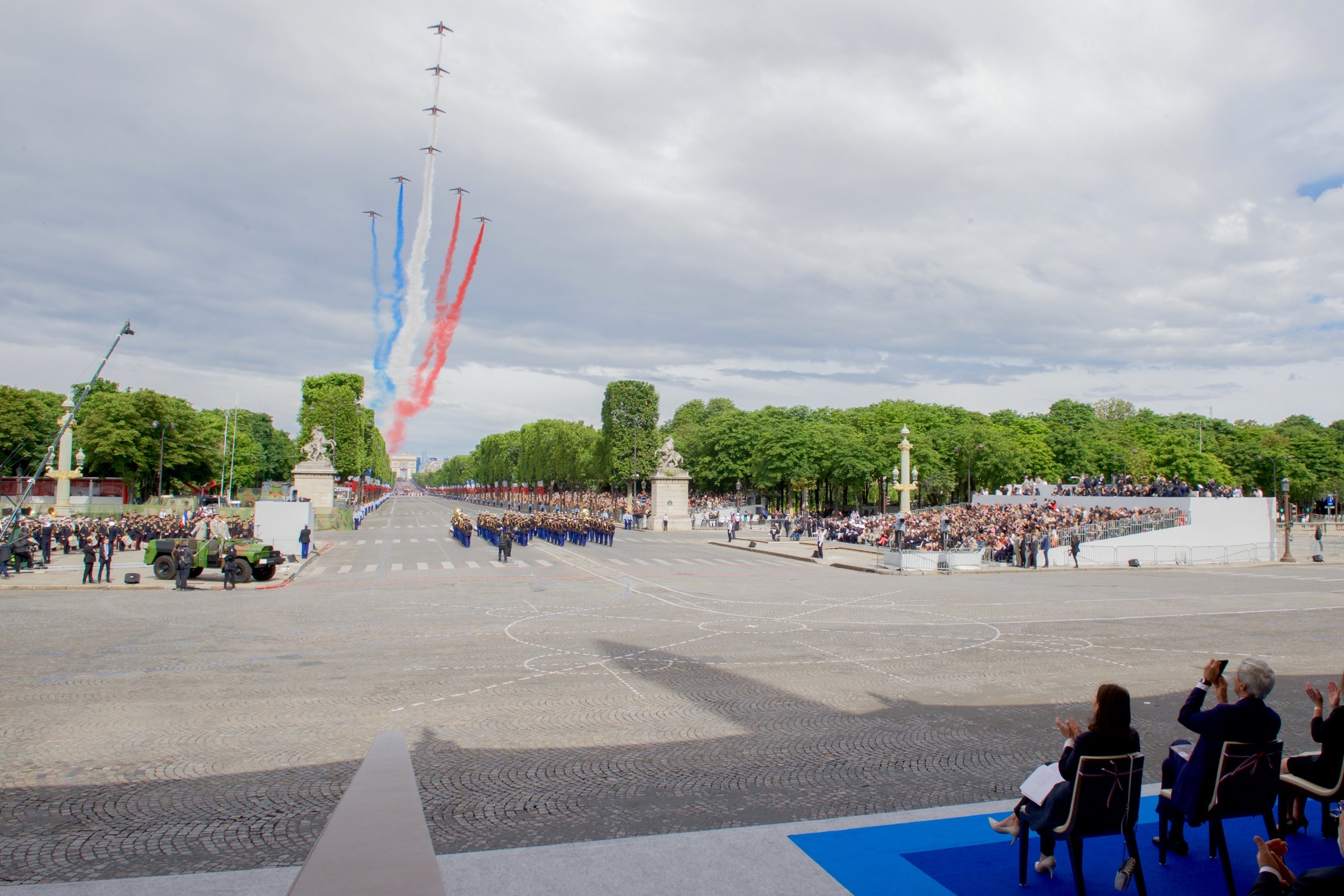 A prime seat for the Bastille Day ceremony in Paris.