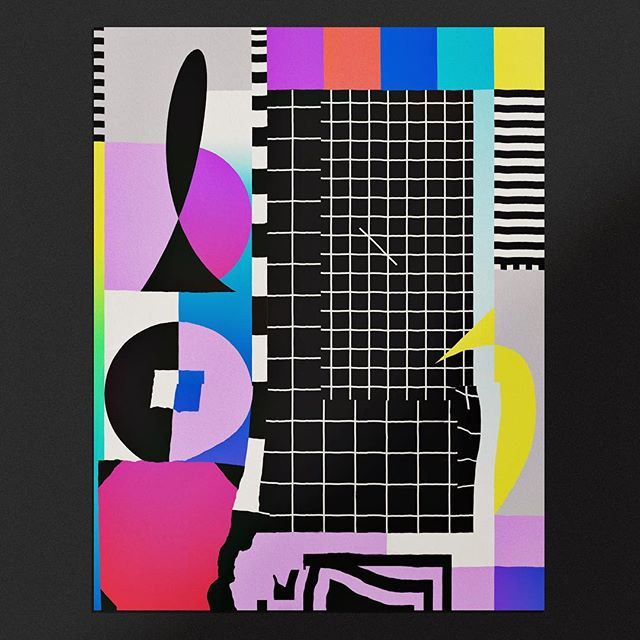A big mess of shapes and colors and patterns and a banana . . . . .  #theideafoundation #abstractmag #kiblind #slowgalerie #ballpitmag #clubsensible #picame #designarf #tafmag #Paintguide #powwowworldwide #designboom #newcontemporary #gagosian @etapes @hifructosemag @juxtapozmag #socfeature #supplyanddesign