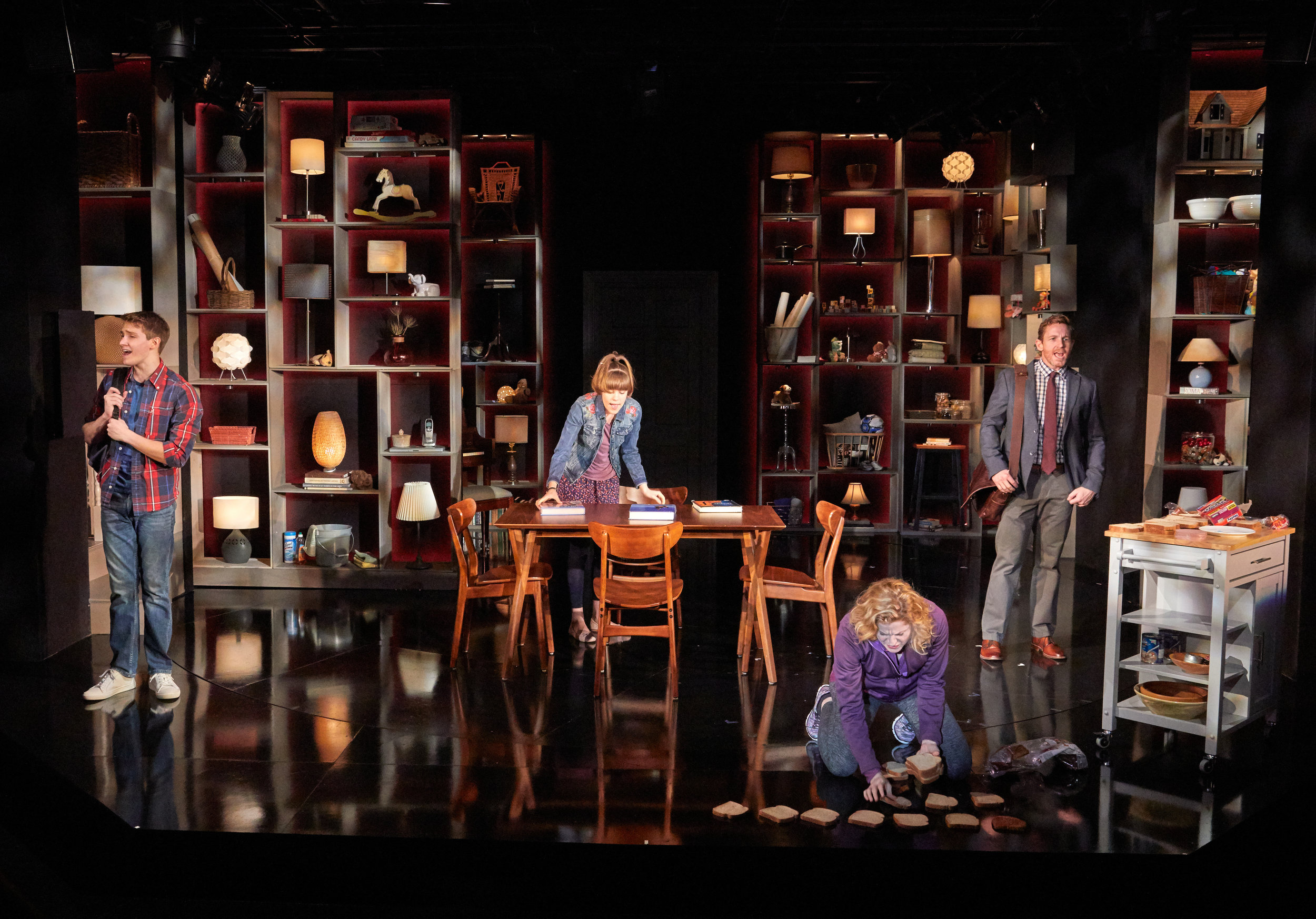 NEXT TO NORMAL   TheaterWorks  Rob Ruggiero, Director  Wilson Chin, Set Design  John Lasiter, Lighting Design  Ed Chapman,Sound Design  photo by Lanny Nagler