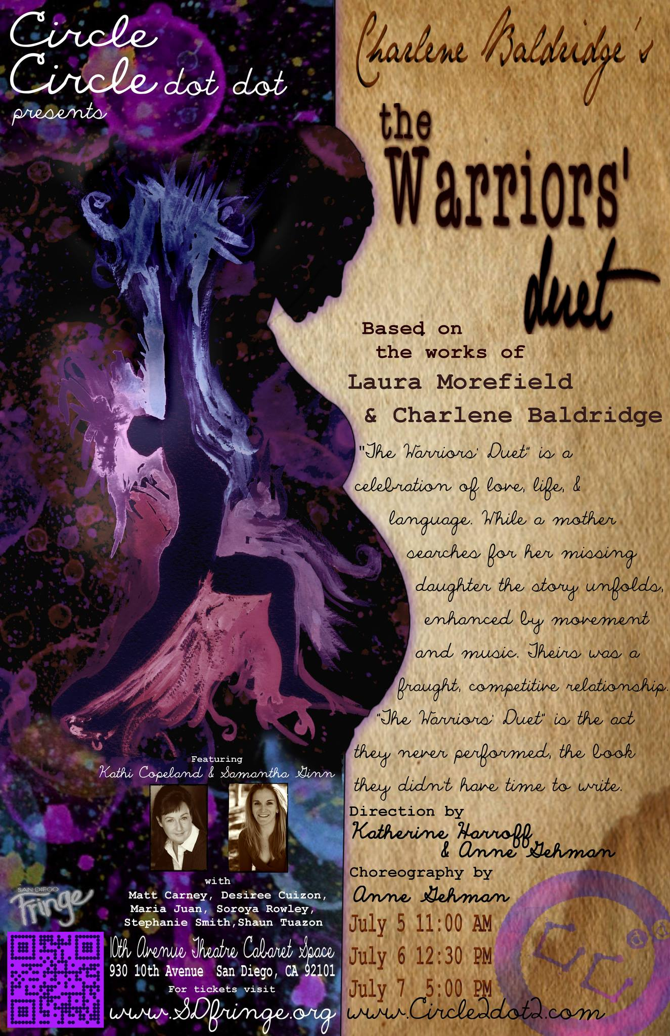 THE WARRIORS' DUET: *Bonus Season Production Presented at the 1st Annual San Diego Fringe Festival & a very special Encore Engagement
