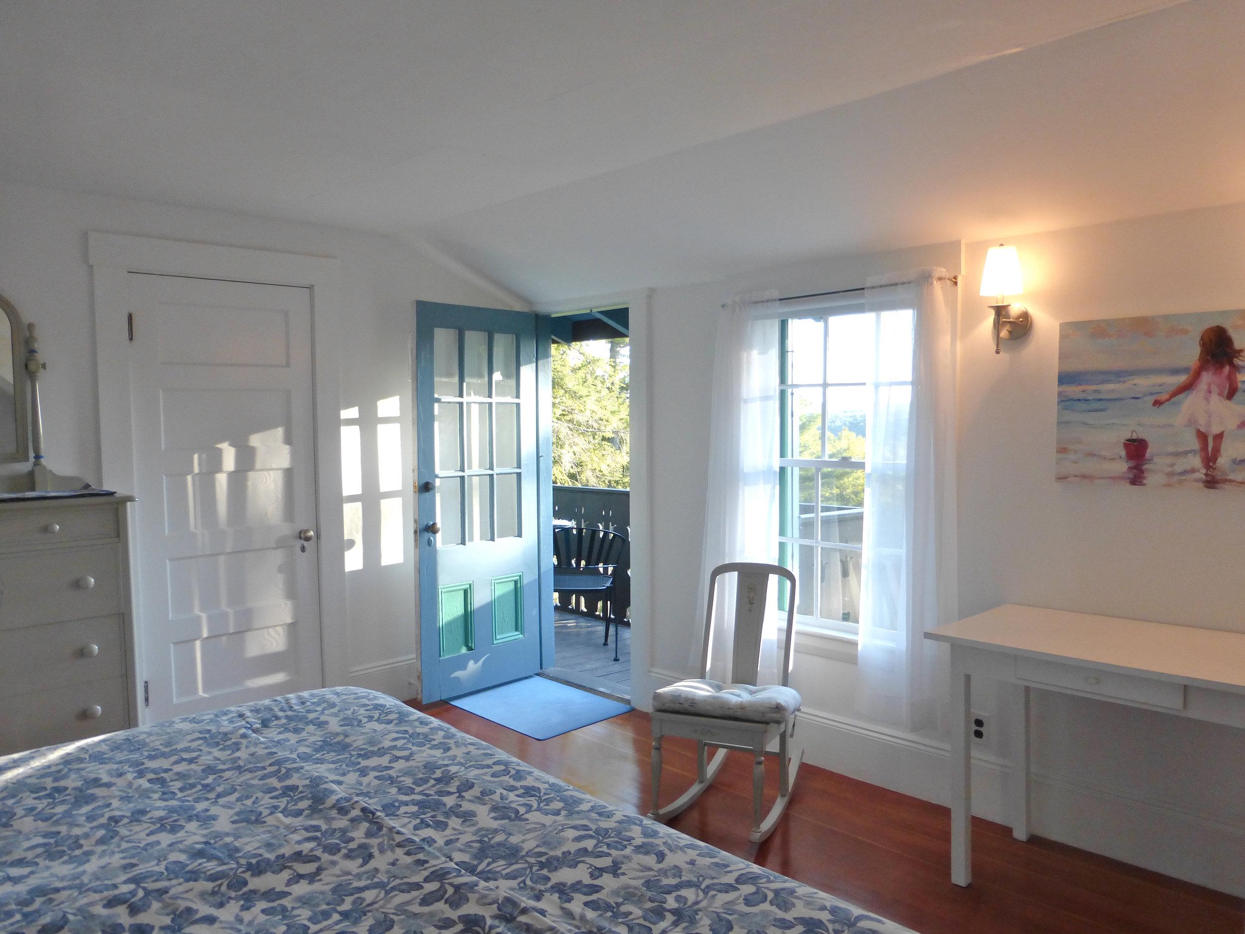 Northwest Bedroom Opens onto Lake Balcony