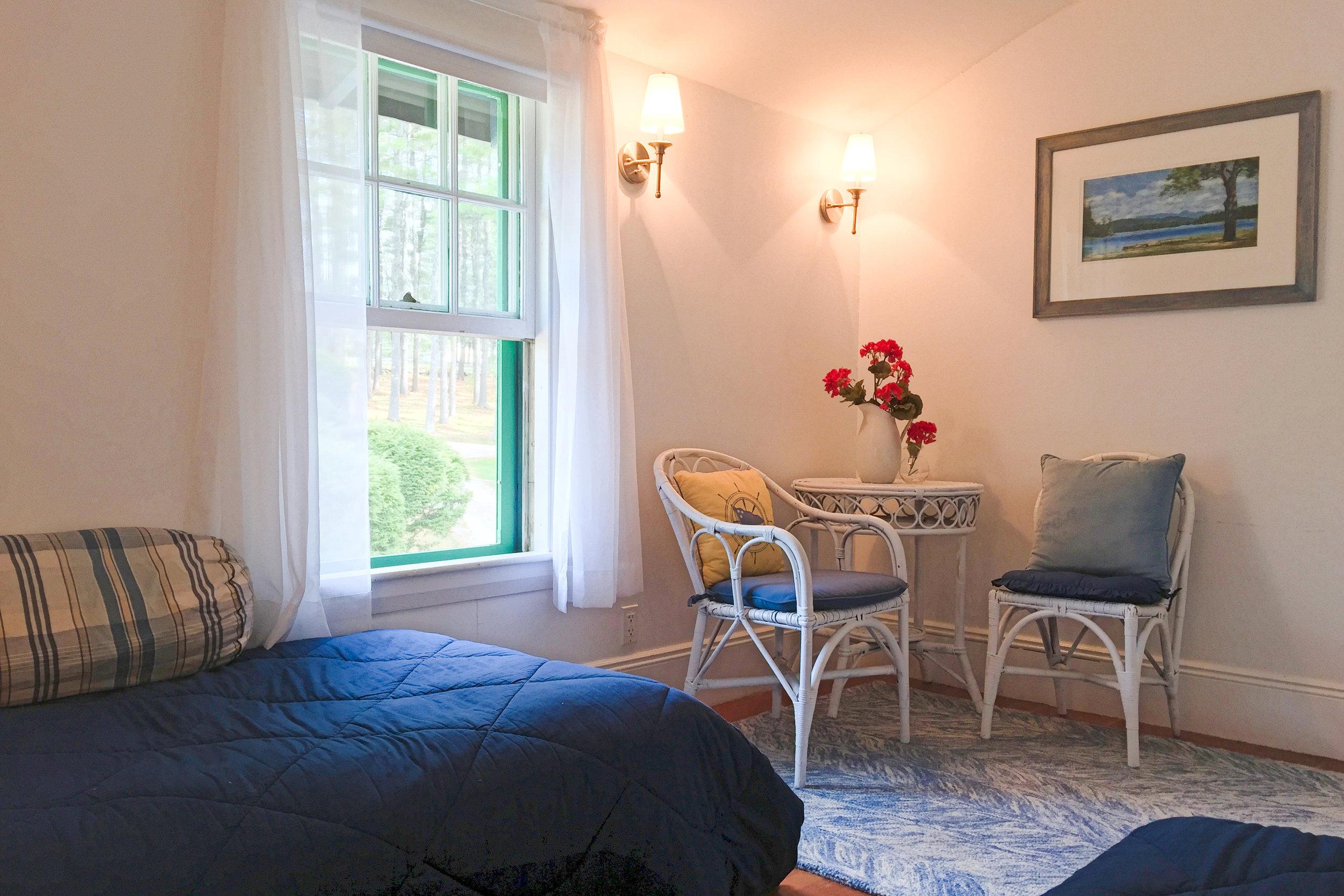 Southeast Bedroom Overlooks Landscaped Grounds