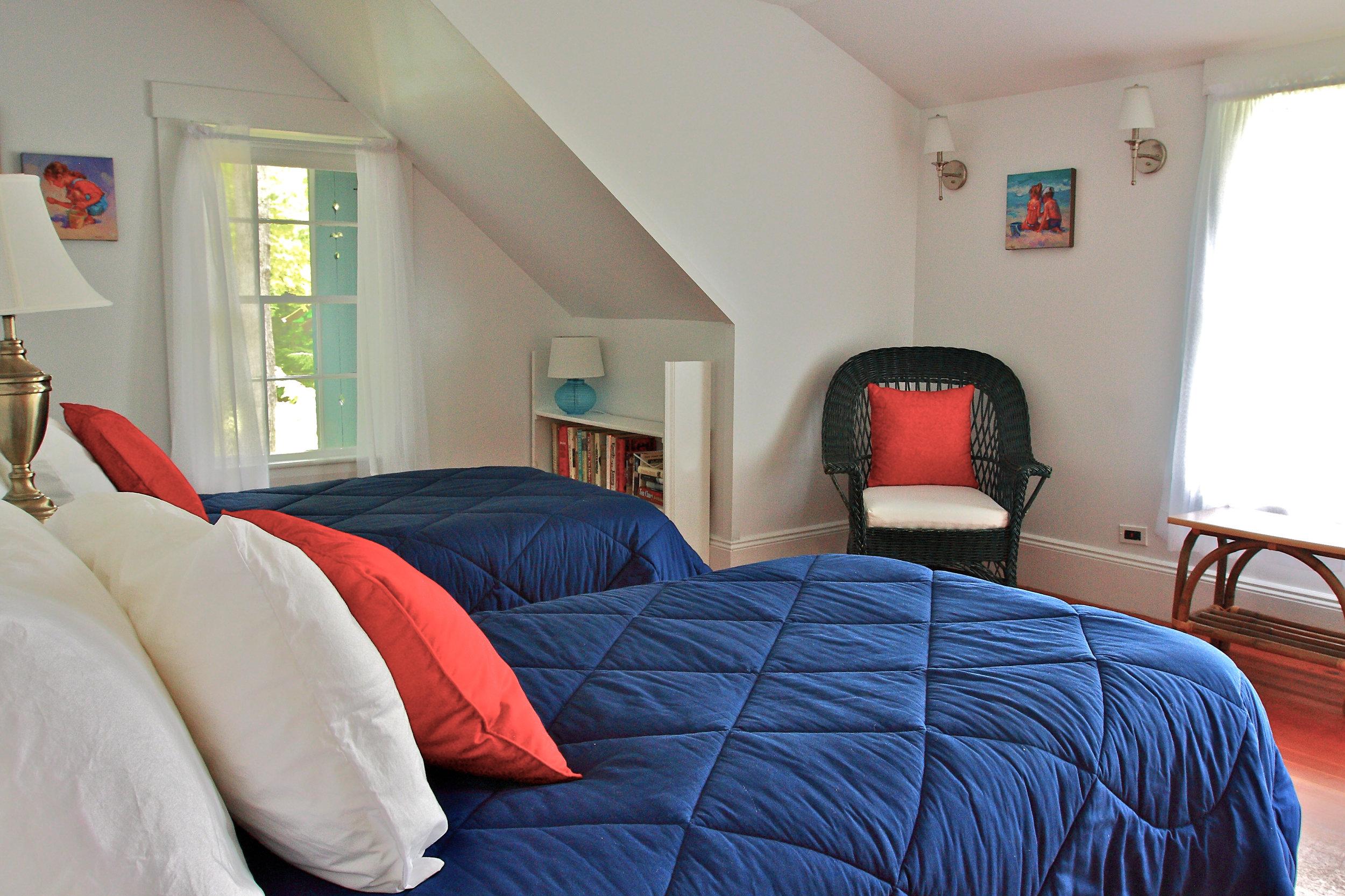 Southwest Bedroom Opens onto Lake Balcony