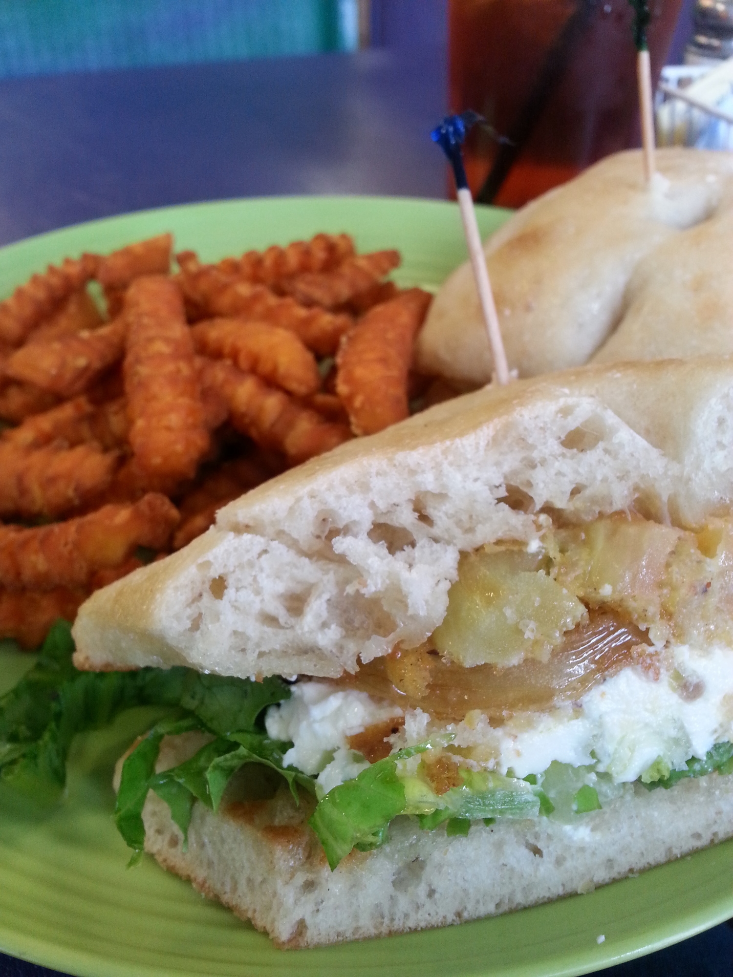 Fried Green Tomato sandwich at Taylor's