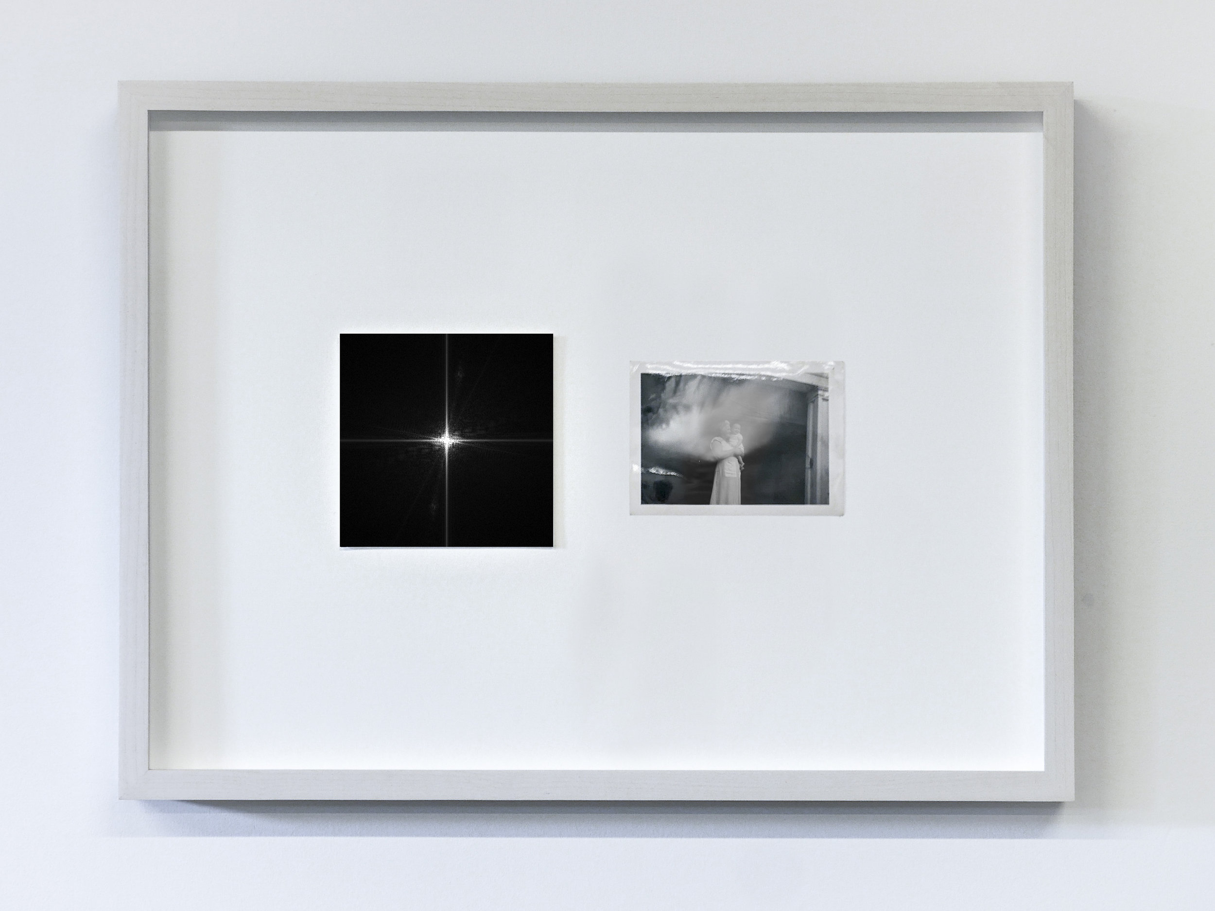 The Essence of a Moment/Fourier 6 , 2017 C-Print and vintage photo in wooden frame 11.8 x 15.75 in (30 x 40 cm) Edition of 1, unique work