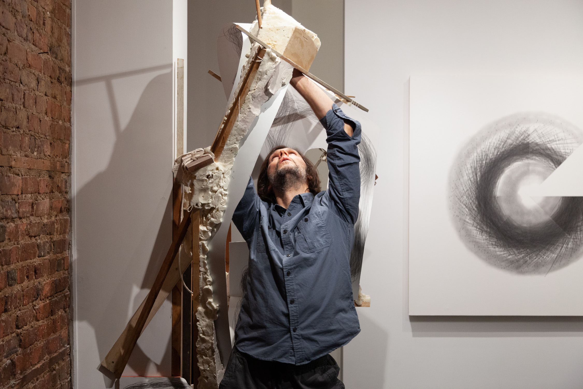 Tony Orrico,  Supporting a continued gesture towards expanding sanctuary , performance at signs and symbols, January 2, 2019