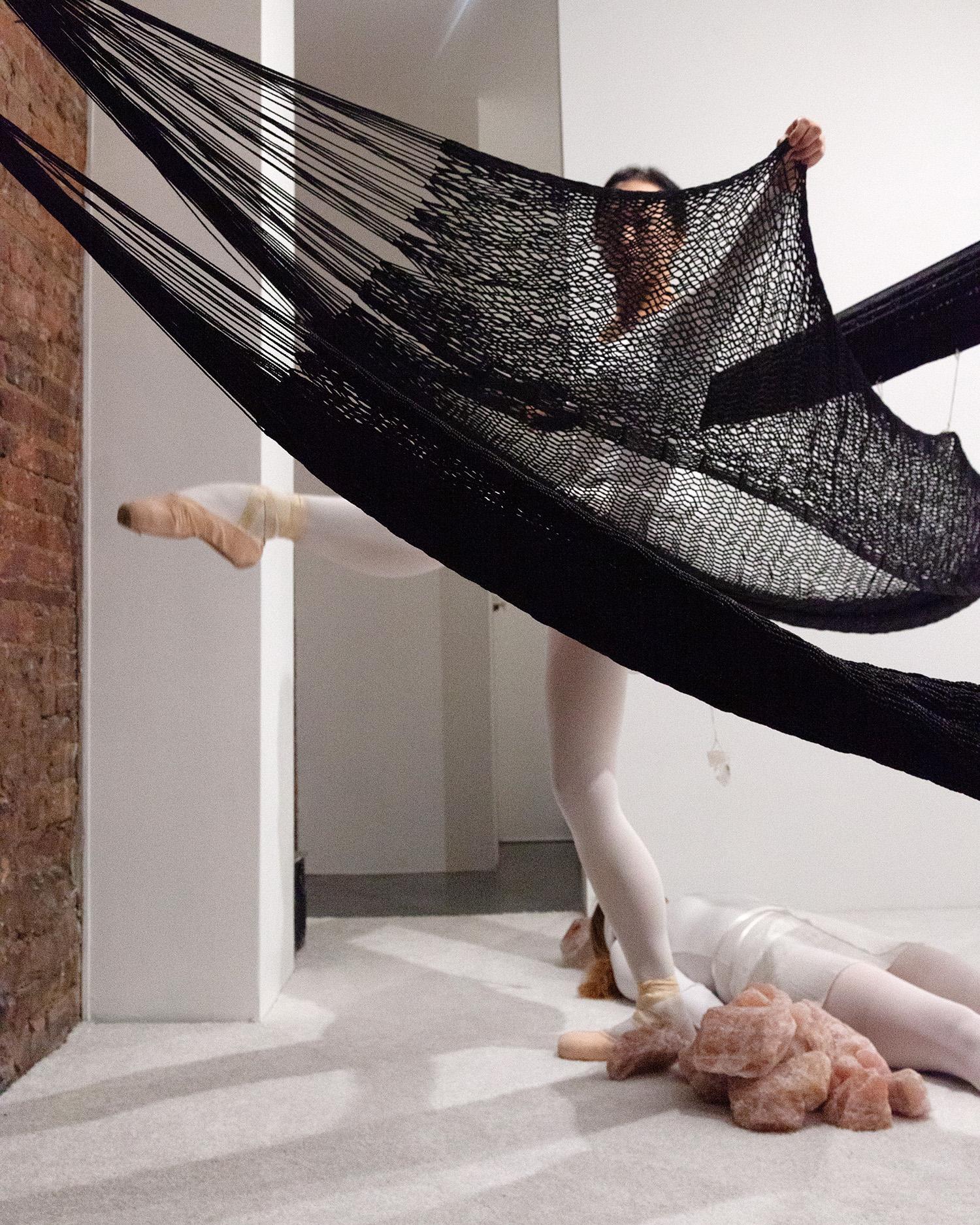 Jen DeNike,  Crystal Cut Levitation , performance at signs and symbols, January 31, 2019