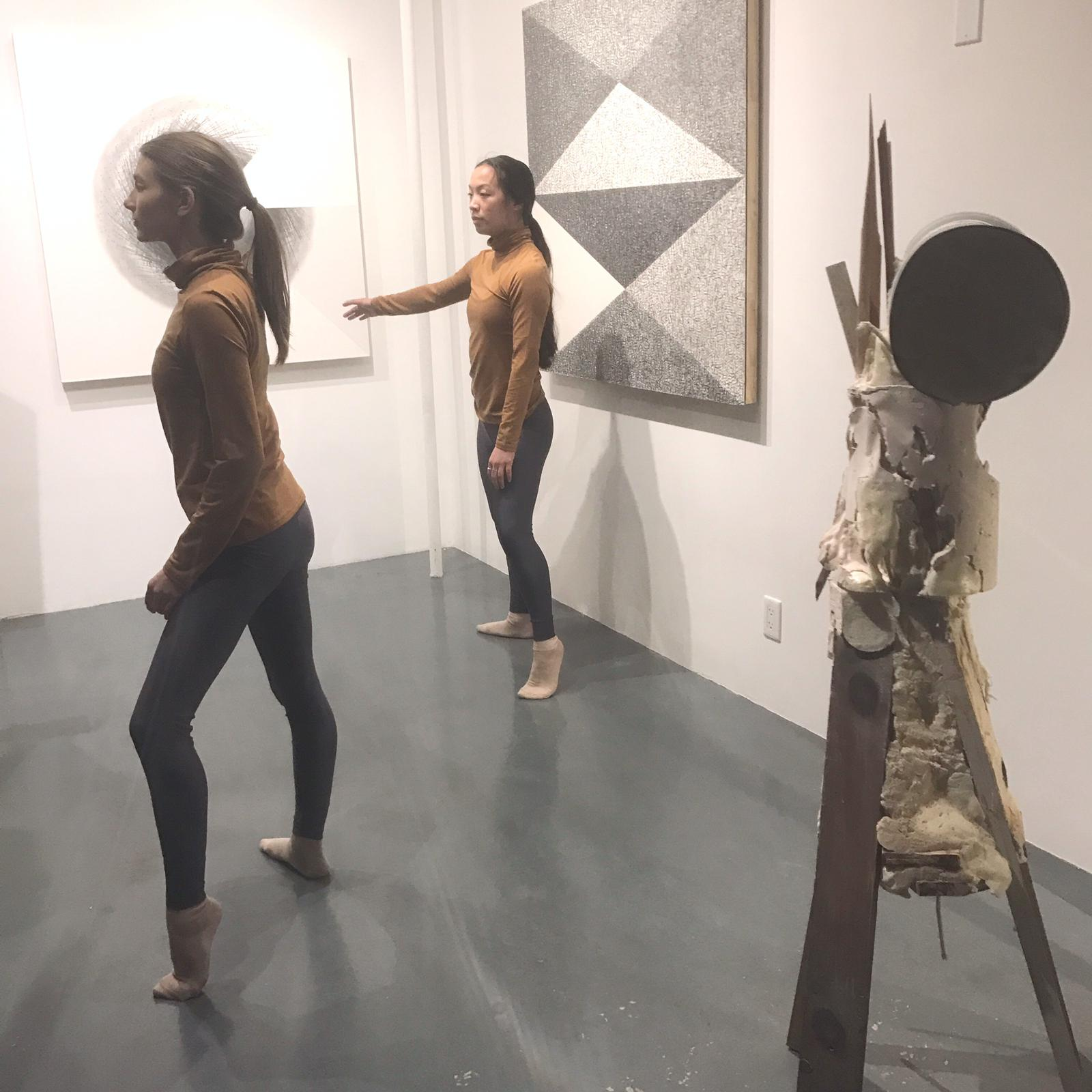 Tony Orrico,  expand / align: I want to be, more aw-ware nowww (lift),   performance at signs and symbols, January 25, 2019