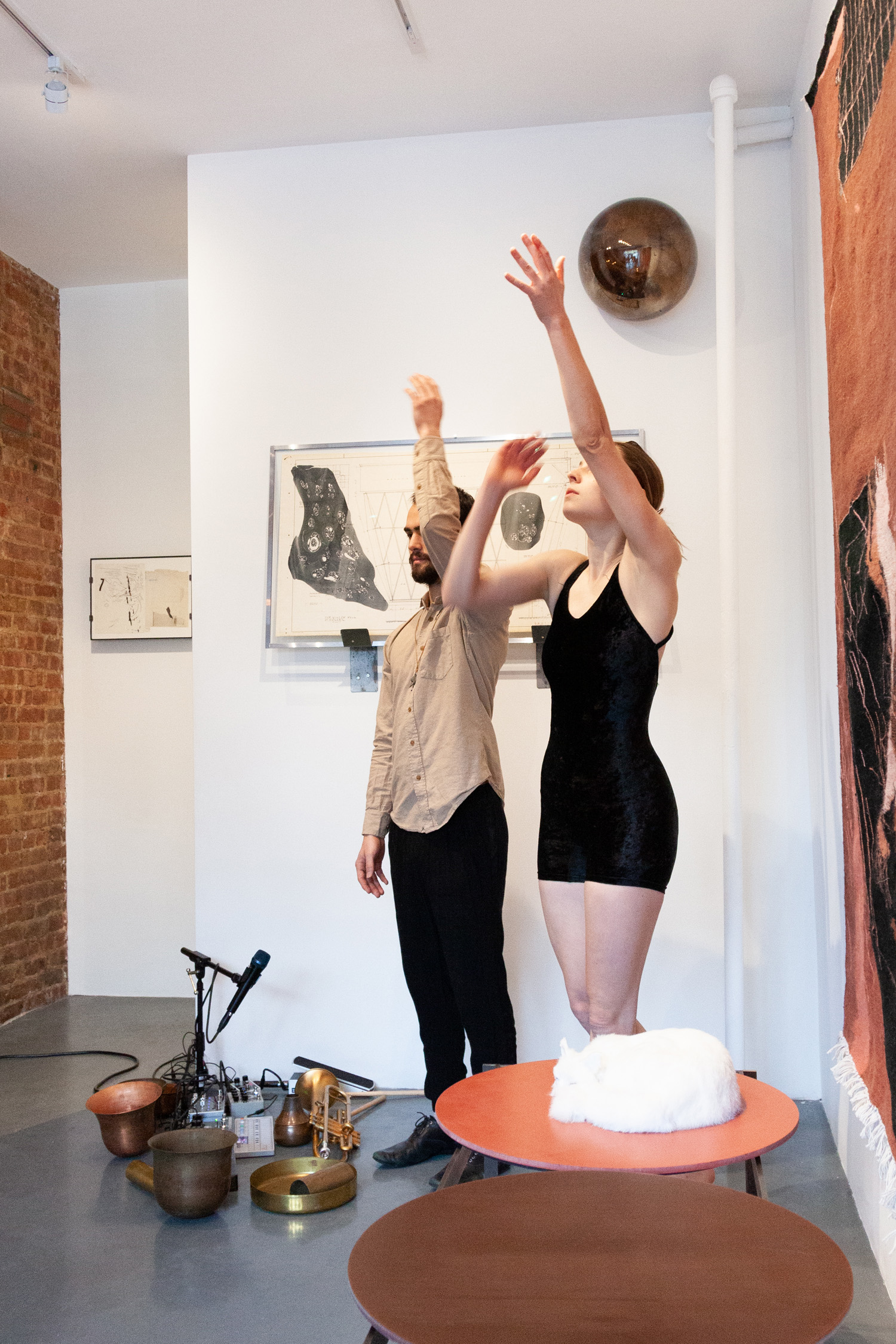 Sarah Entwistle with Rhys Tivey and Natalie Deryn Johnson,  You shout first, and I will shout after,  performance at signs and symbols, March 10, 2019