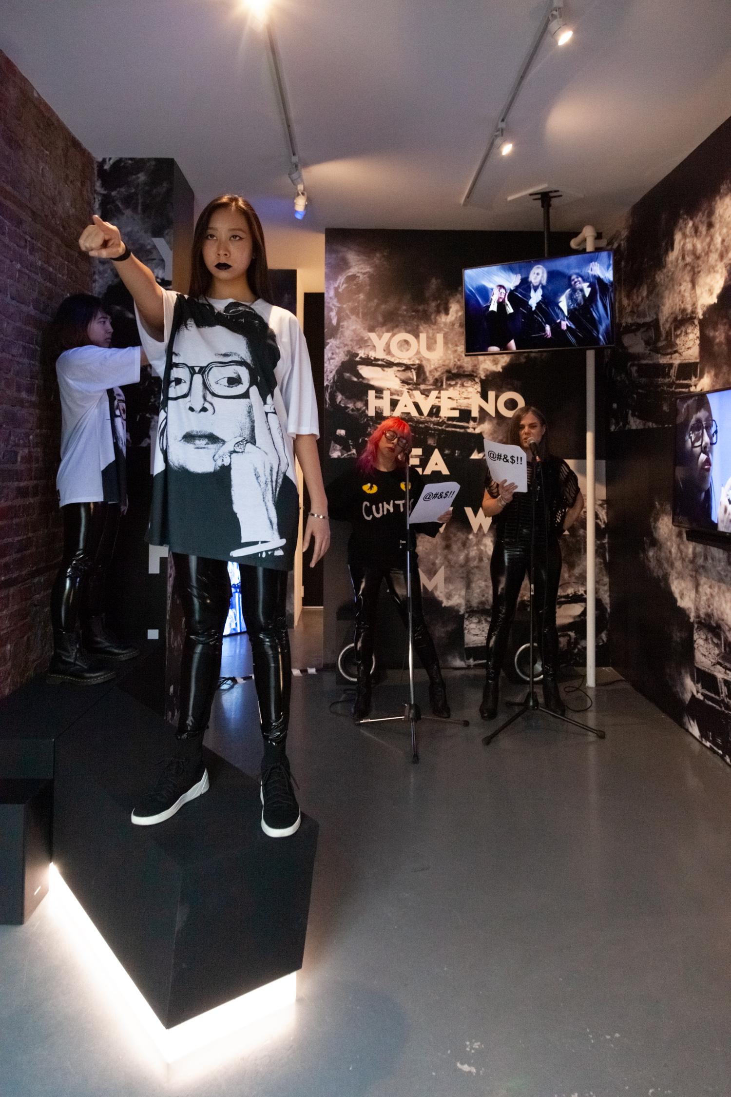 Michelle Handelman,  LOVER HATER CUNTY INTELLECTUAL,  Performance with Viva Ruiz, 5.5.19