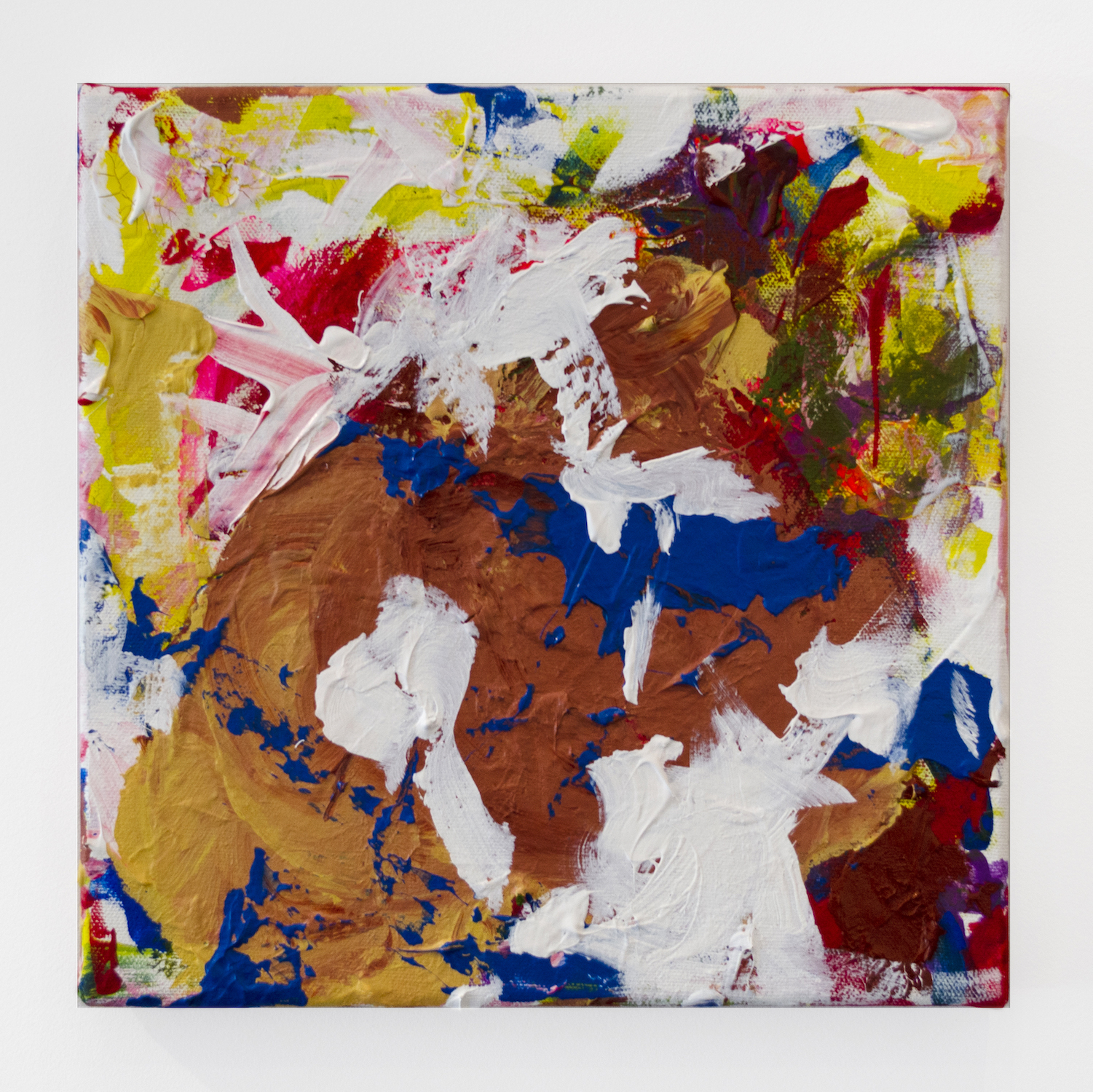 Dolores Bailey   Splatter , 2016 Oil on canvas 10 x 10 inches (25.4 x 25.4 cm)  Starting bid: $20