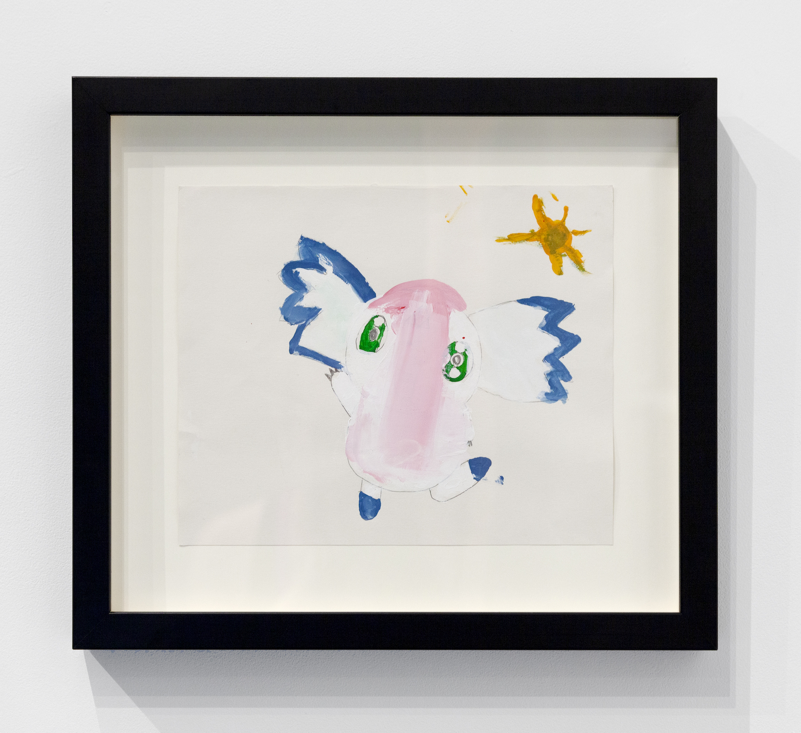 Alexandra Gepp,  Dream Doudou , 2014, Acrylic on paper, 12 x 13 inches (30.48 x 33.02 cm) framed
