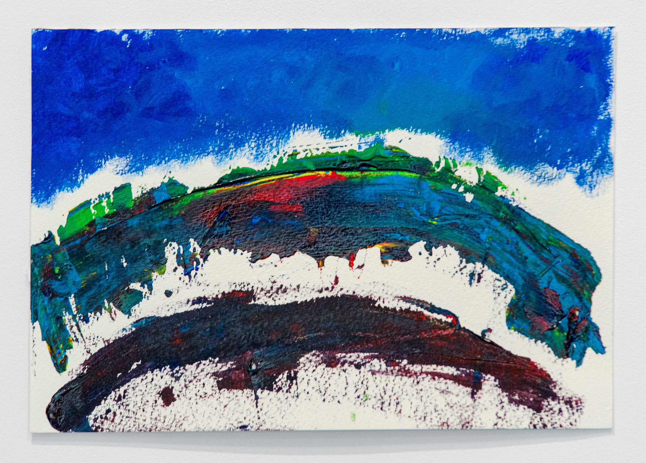 Alexia D'Monte ,   The Rainbow Bridge,  2019, Acrylic paint on watercolor paper, 7 x 10.5 inches (17.5 x 26.5 cm)