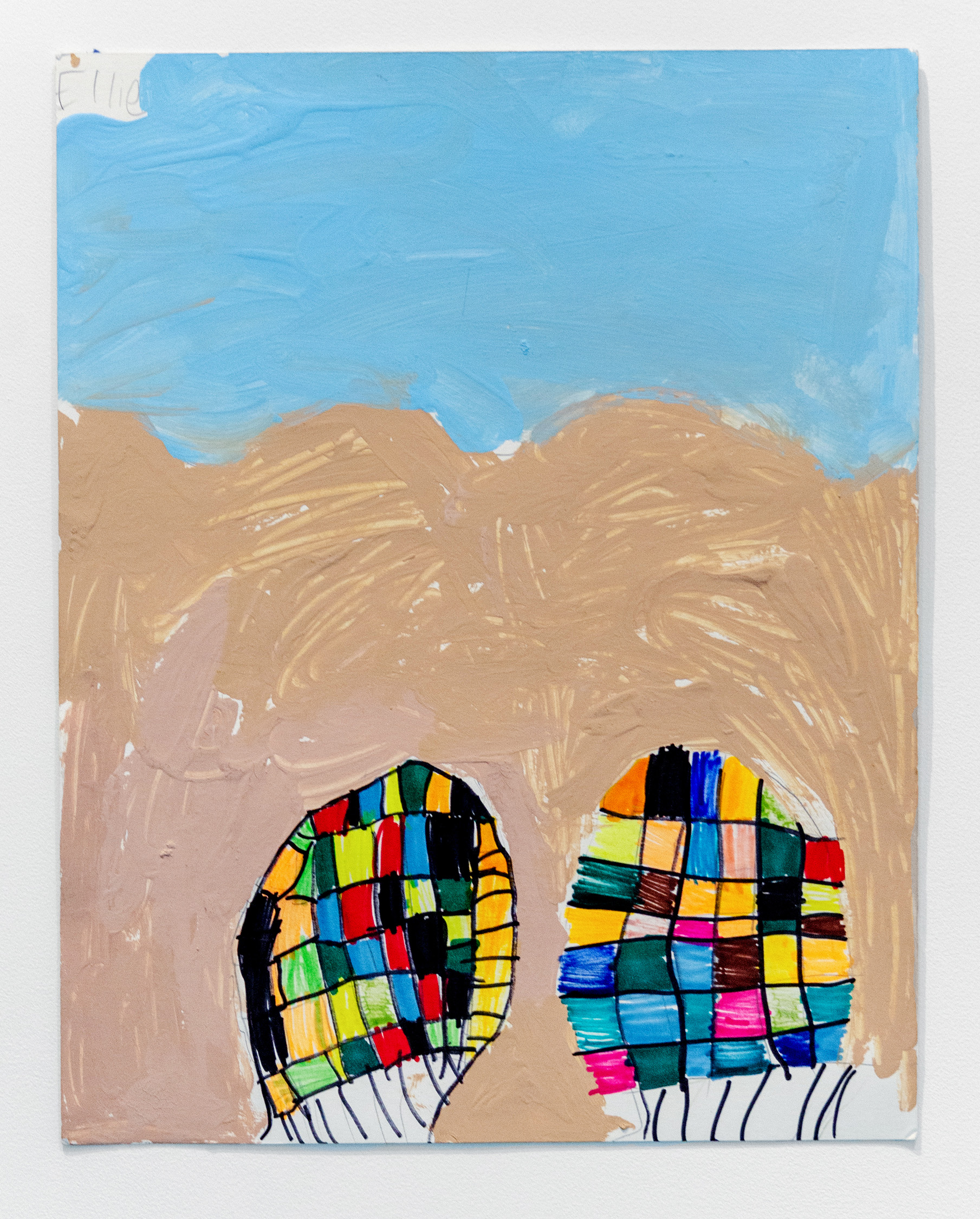Ellie Rosenblatt,  Feet on the Beach , 2019, Acrylic, marker and pencil on paper, 14 x 11 inches (35.5 x 28 cm)