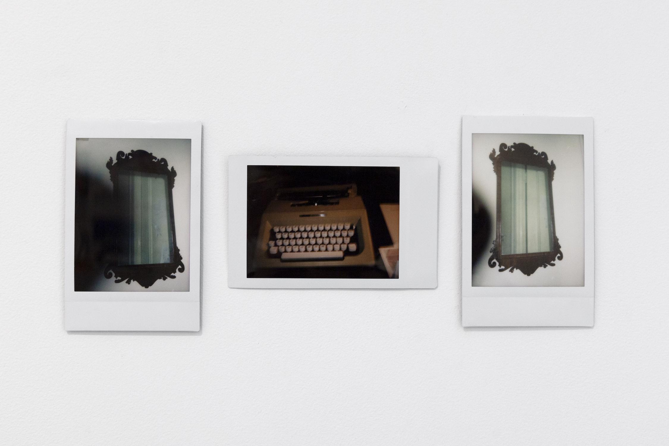Julian Remmel,  Ghost , 2018, Polaroid print triptych, 3.39 x 2.13 inches each (8.61 x 5.41 cm)