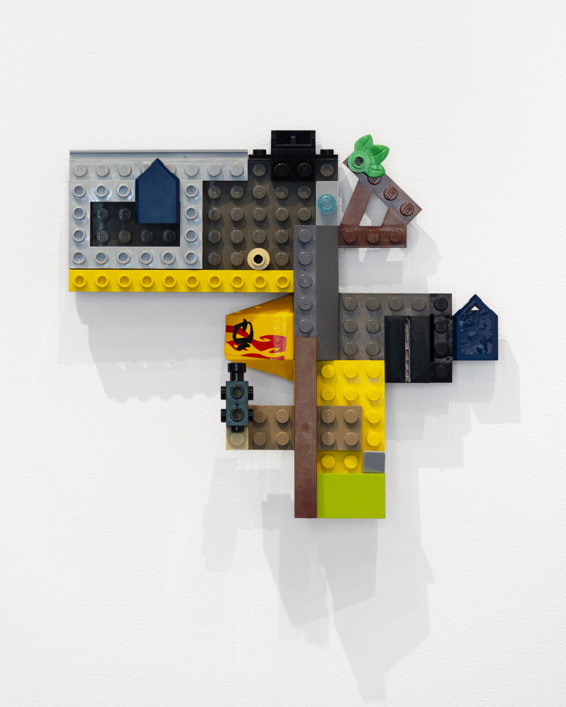 Marlowe Broomberg,  Lego Painting #2 (from Lego Paintings Series) , 2019, Lego pieces, 5.5 x 6 x 1 inches (14 x 15 x 2.5 cm), Unique edition