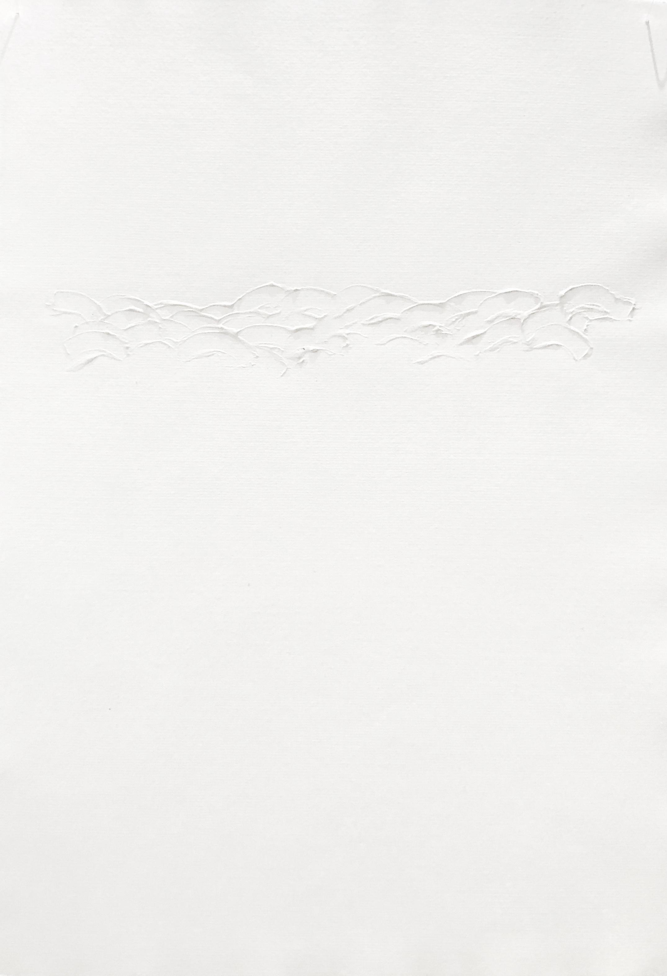 Sharon Louden,  Merge , 2001, Acrylic, gel medium and watercolor on mylar, 18 x 11 inches (45.7 x 28 cm)