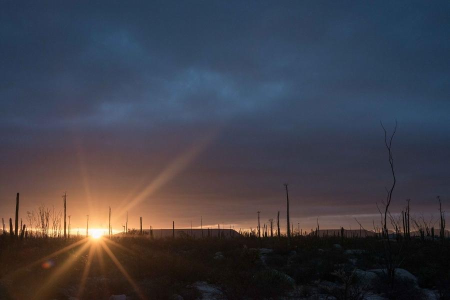 Desert sunrise via  The Perfect Hideaway