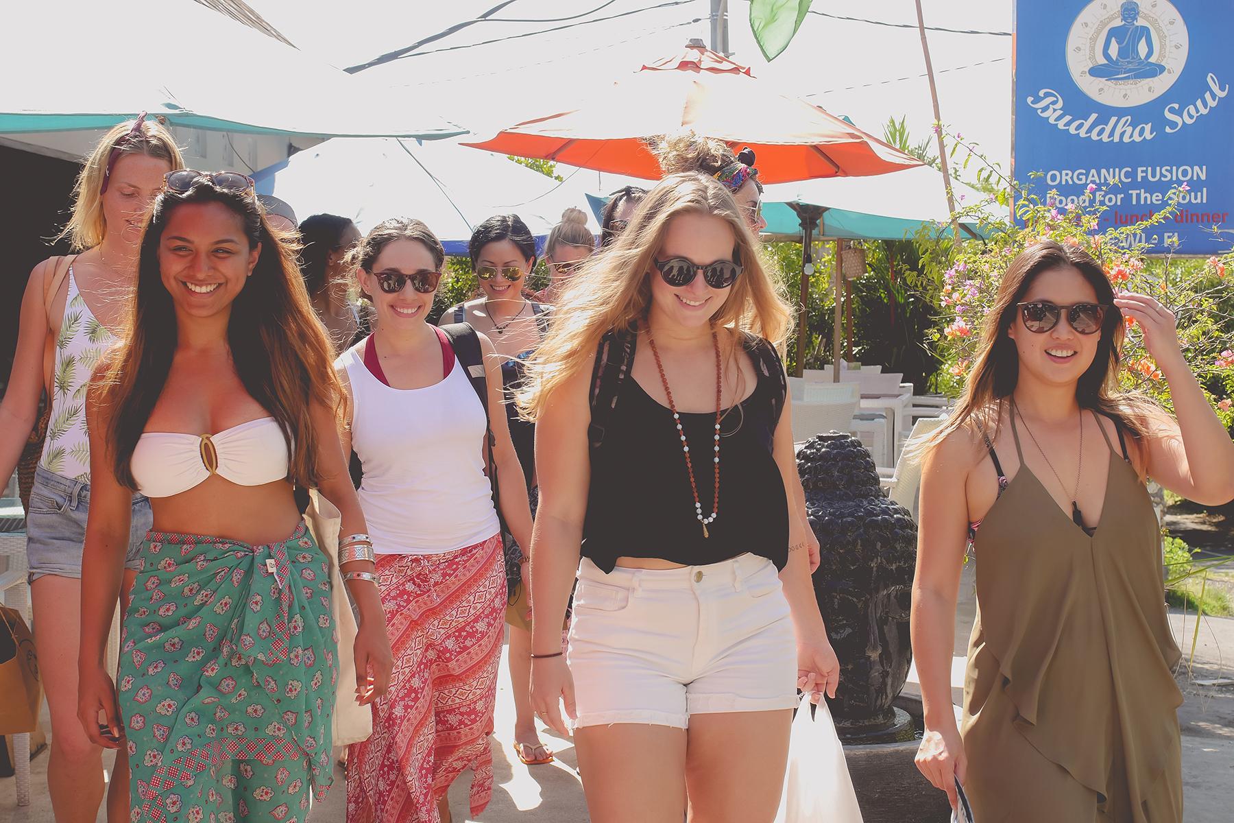 Yoga Retreat Bali and yoga girls