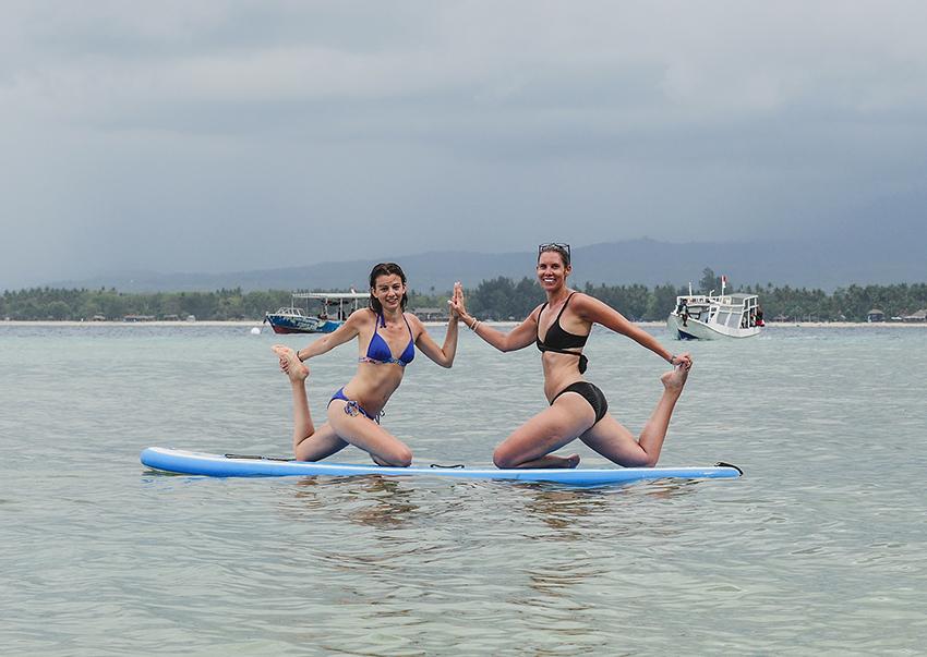 SUP yoga retreat Bali