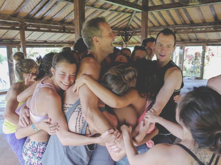 Sharing the love during Exhale Yoga Retreats 200hr Yoga Teacher-Training.