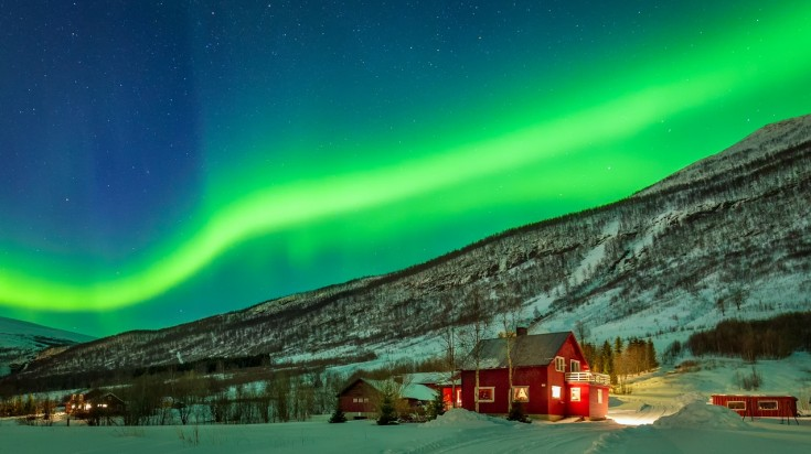 You can view the northern lights from the city and the countryside.