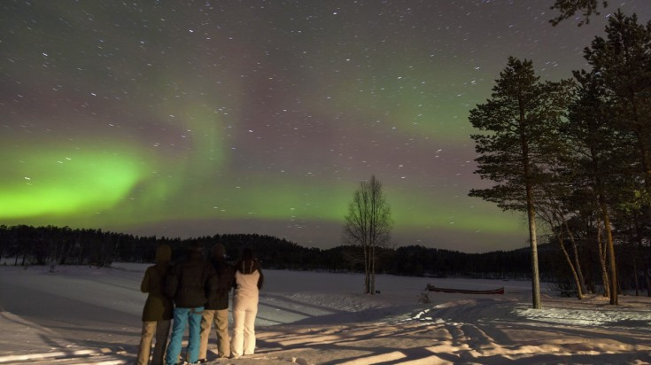 Kuusamo in Finland is a great place for northern lights hunting.