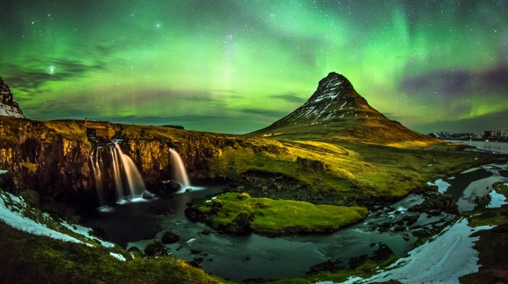 The northern lights are visible from anywhere in Iceland.