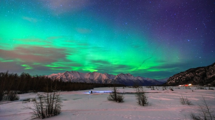 Head out to Healy, book a cabin and enjoy the celestial show in Alaska.