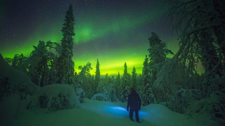 Swedish Lapland offers spectacular northern light displays from late August to early April.