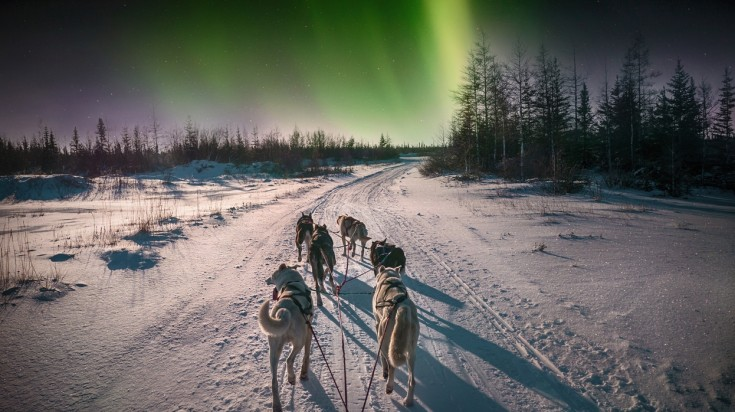 Northern Canada is a good option for spotting the northern lights.