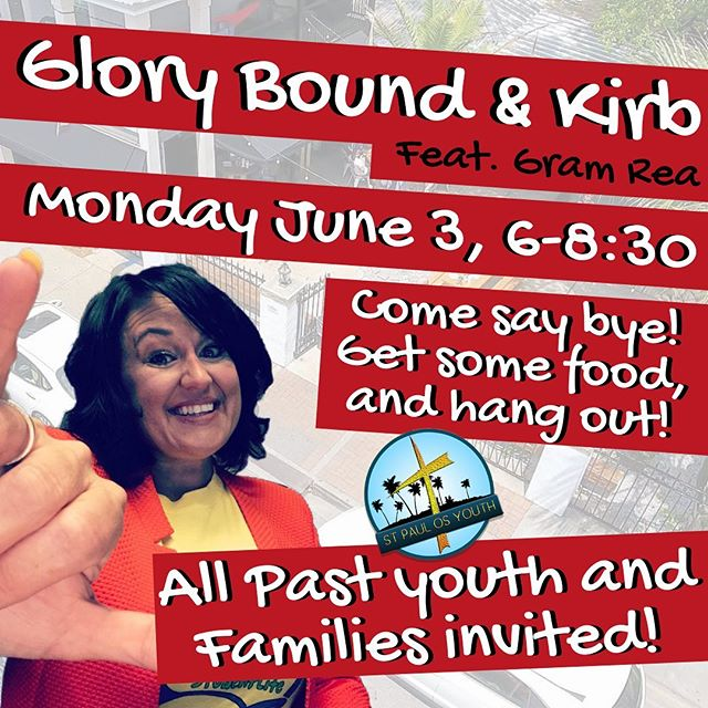 👋Come On with that Come On!👌Help us to send off our favorite Youth Pastor MJ! 🥙 Glory Bound Gyro Co. - Ocean Springs, Monday June 3rd from 6-8:30! Come say bye to Kirb, grab some food, tunes by Gram Rea! All youth, past youth and families welcome! Let's do this big! 🎉