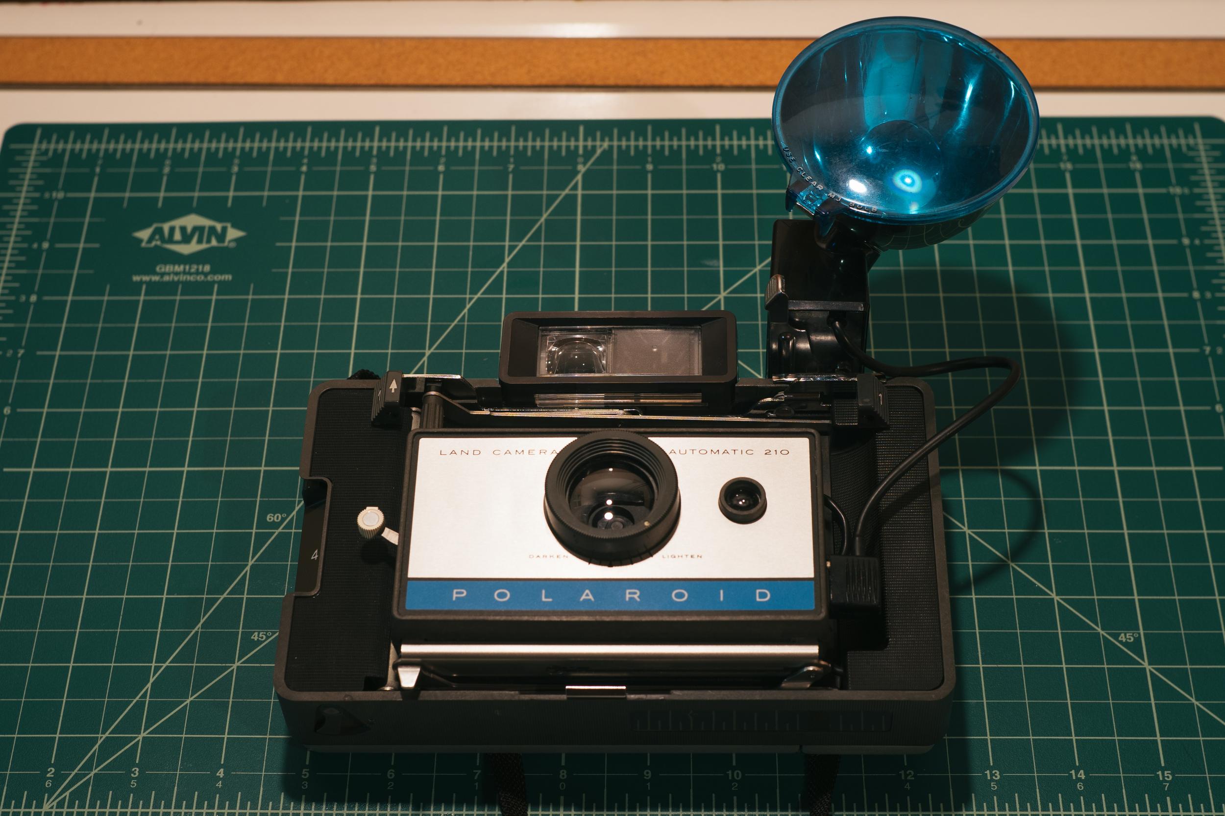 Polaroid Land Camera Automatic 210 with flash