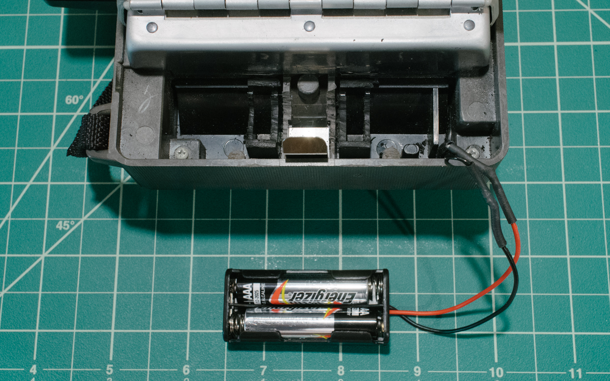 Creating a deeper notch for the AAA battery tray.