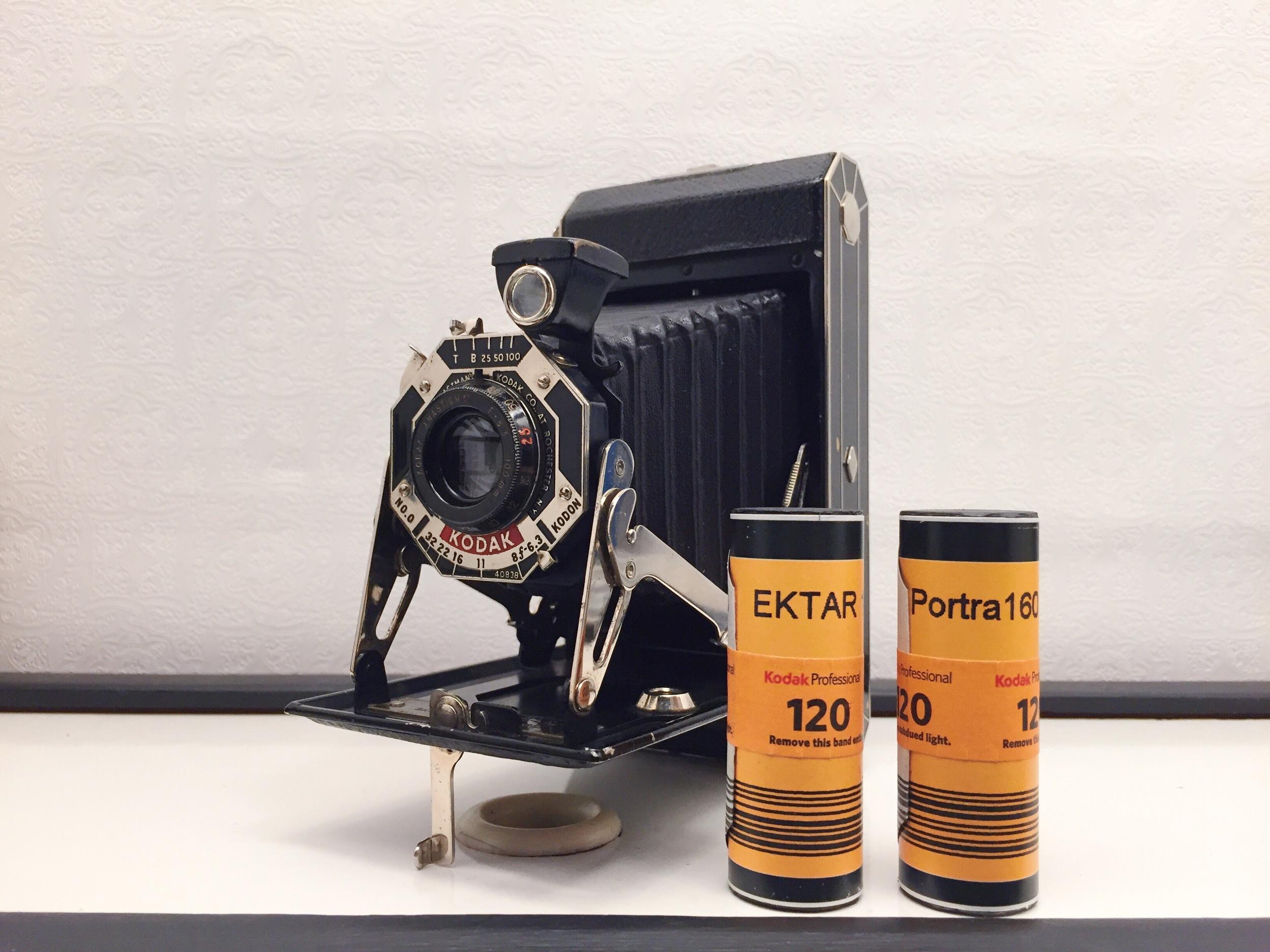 1930's Kodak Six-20 Folding Camera -100mm F/6.3 Anastigmat | Kodak Ektar & Portra 120 (modified to replicated 620 spool dimensions).