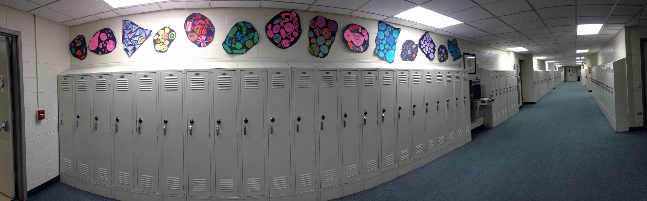 6th grade shape study installation